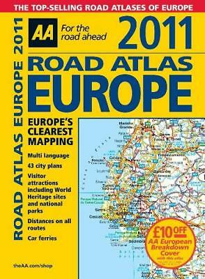 Road Atlas Europe 2011 (AA Atlases and Maps) by AA Publishing Spiral-bound NEW B