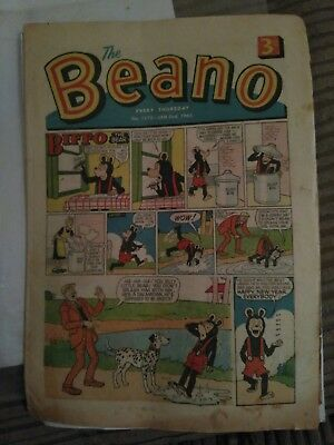 Beano Comics January 1965. Good Condition. Jan 2nd, 9th, 16th, 23rd & 30th 1965.