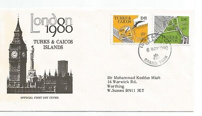 Turks & Caicos Islands London 1980 First Day Cover