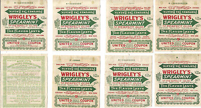 (8) Wrigley's Spearmint Gum - United Profit Sharing Coupons