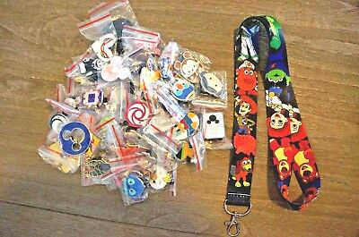 Disney World 25 Pin Trading Lot Lanyard Starter Set Toy Story Buzz Lotso Rex Ham