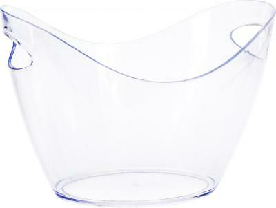 Clear Plastic Drink Cooler Ice Bucket Bowl
