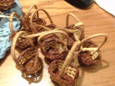 12 Mini Wicker Woven Baskets Party Favors Crafts New Wholesale