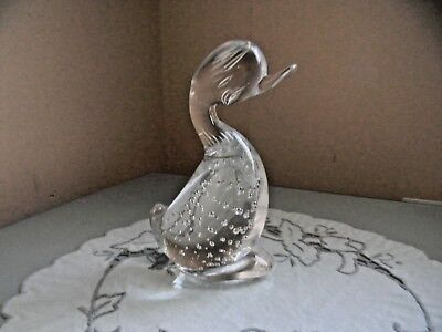 Whitefriars Glass Flint Dilly Duck Figurine