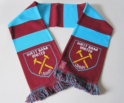 West Ham United Traditional Retro Style Bar Scarf *Official*