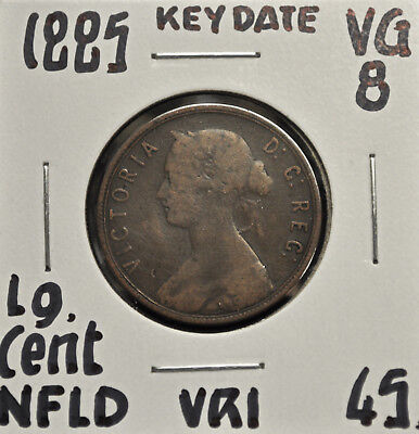 1885 Newfoundland One Cent VG-8