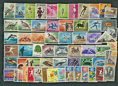 San Marino Mint Stamp Mixture 60+ Pictorial Stamps Many nice older and topics