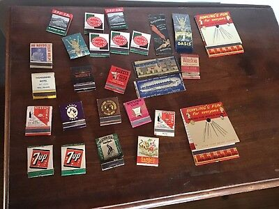 Vintage Casino  Matchbooks & Covers.SS REX- 7-up - Train- Large Bowling Feature