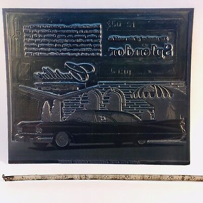 1959 Cadillac Printing Plate For Black And White Newspaper Ad.
