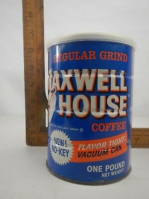 VTG Maxwell House Regular Coffee Tin Can Sealed NOS New Unopened