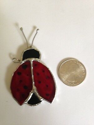 Stained Glass Mini Ladybug Suncatcher - Made in the USA in NH- great for gifts