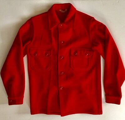Vintage Boy Scouts of America Small Official Red Wool Button Front Jacket