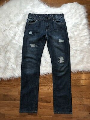 Lucky Brand Boys Billy Straight Authentic (Distressed) Denim Jeans Size 16 (408)