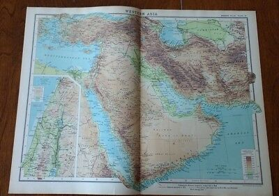 1923 Map Of Western Asia (Middle East) Protestant Mission Stations