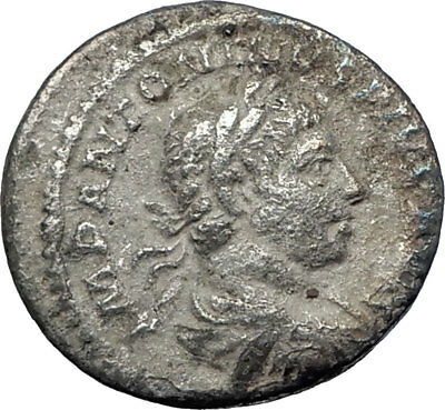 ELAGABALUS 220AD Rome Authentic  Ancient Silver Roman Coin Victory Nike  i73593