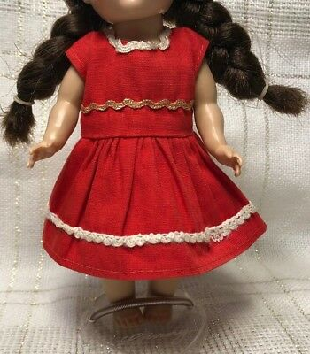 1950s Vintage Doll CLOTHES - DRESS, Ginger, Vogue Ginny, Muffie, Virga, 8""