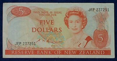 Bank of New Zealand $5 Banknote