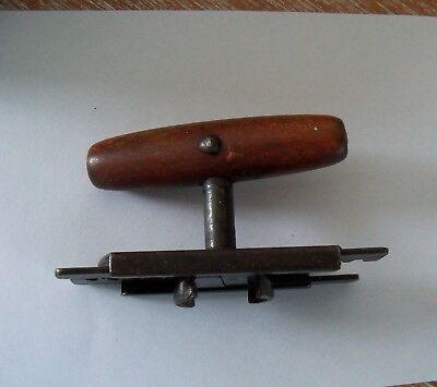 Vintage TOP-OFF Jar Bottle screw top Opener EDLUND Co. Burlington VT wood handle