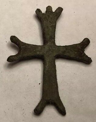 Small Medieval Bronze Knight Templar's Icon 12th Century From Jerusalem #18