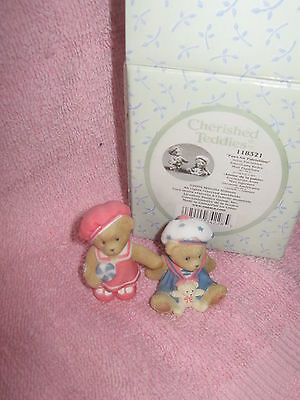 Paws for Patriotism Americana Bears (Set of 2) 2004 Cherished Teddies NEW IN BOX