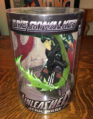 "Star Wars~2006~LUKE SKYWALKER ""Unleashed 12"" FIGURE Cylinder Display NEW"