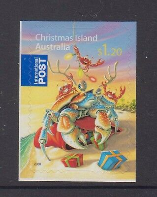 Christmas Island  2008 Christmas Mint unhinged $1.20 International Post booklet