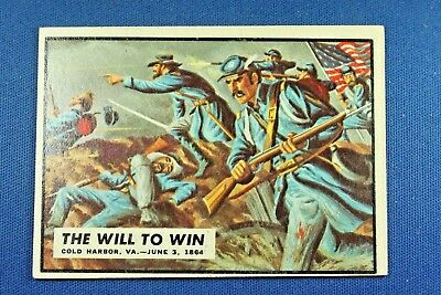 "1962 Topps Civil War News - #68 ""The Will To Win"" - VG/Ex Condition"