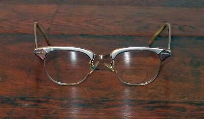 Vintage Cat Eye Glasses 1960's Cateye Frames Shuron Made in USA Used Horn Rim
