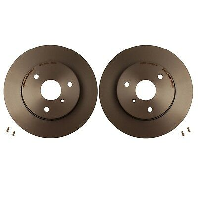 Smart Fortwo Pair Set of 2 Front Solid Disc Brake Rotors 280mm 3 Lugs Brembo