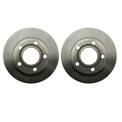 Pair Set of 2 Rear Solid Coat Disc Brake Rotors 255mm Brembo for Audi A6 Quattro