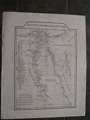 1804 ORIGINAL Map of Egypt, Africa, Middle East