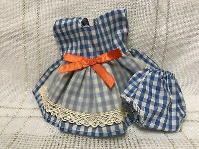 1950s Vintage Doll Clothes DRESS/Panties, Virga, Vogue Ginny, Ginger, Muffie, 8""