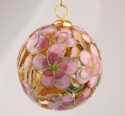 Unique Cloisonne Pendant Ornament Ball Old Handmade Christmas Decoration Gifts