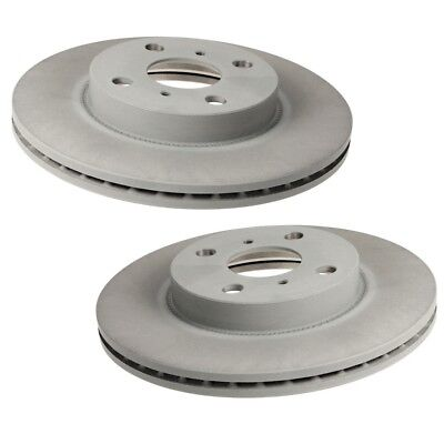Pair Set of 2 Front 255mm Vented Coated Disc Brake Rotors Brembo For Toyota