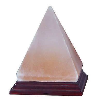 New Himalayan Carved Ionic Ancient Crystal Rock Pyramid Salt Lamp Lot of 1