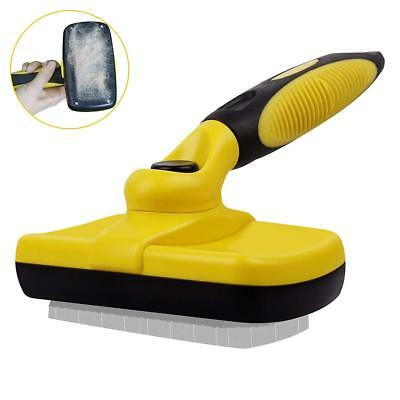 Pet Grooming Brush PEEKABOO Self Cleaning Slicker Brushes for Dogs Shedding Tool
