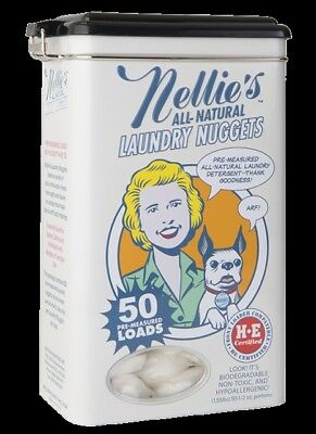 Nellies All-Natural NLN-50 50 Load Laundry Nugget Tin