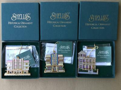 Shelia's Historical Ornaments,3 Florida,carlyle,marlin,artist House,unused,boxed