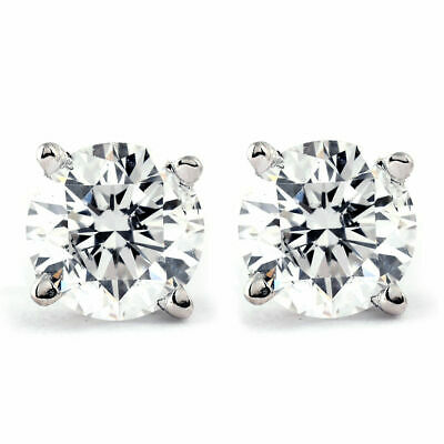 .25Ct Round Brilliant Cut Natural Diamond Stud Earrings In 14K Gold