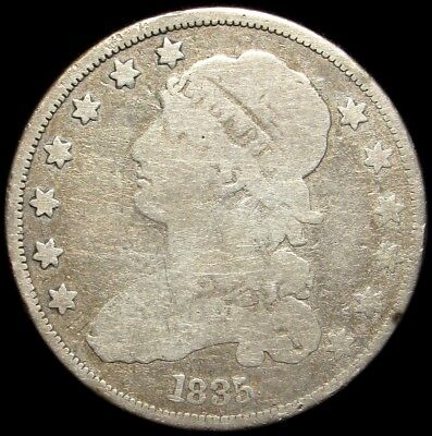 1835 Capped Bust Quarter - G - 25c Silver - Good