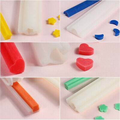 Silicone Tube Pipe DIY Soap Candle Mould Chocolate Cake Roll Candy Mold
