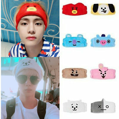 Kpop BTS BT21 Cute Hair Band Tata Chimmy Cooky Wash Cleansing Headband Gift