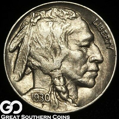 1930-S Buffalo Nickel, Well Struck Better Date, Choice AU++