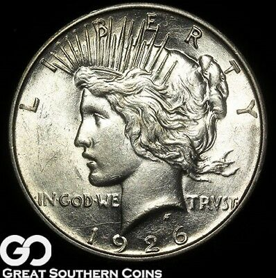 1926-D Peace Dollar, Tough Date, Nice and Lustrous
