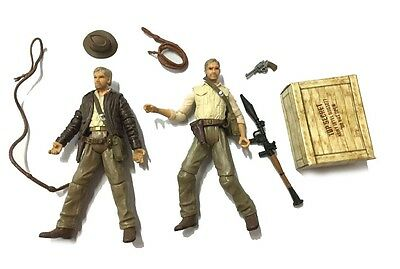 "2Pcs Indiana Jones 3.75"" Kingdom of the Crystal Skull hasbro Figure gift toy"
