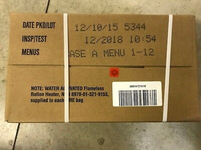 Military MRE Case Genuine US Ready to Eat - Case A 12/2018 Inspection date