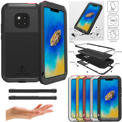 Waterproof Shockproof Aluminum Metal Hard Cover Case For Huawei Mate 20 Pro Skin