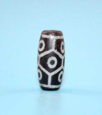 20*9 mm Antique Dzi Agate old 9 eyes Bead from Tibet **Free shipping**