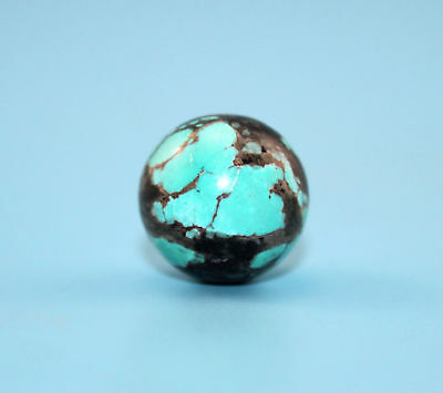18*18 mm Antique Undressed dzi turquoise old Bead from Tibet **Free shipping**