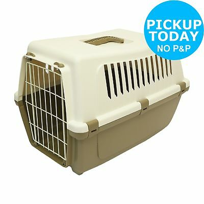 Rosewood Plastic Pet Carrier with Cushion - Medium.